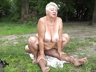 Naturist porks grandma in public