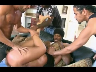 Asian MILF Gangbanged off out of one's mind deathly Dudes