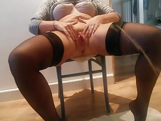 Married mature MILF pisses for camera.