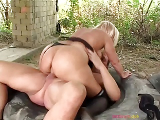 Mature outdoor anal
