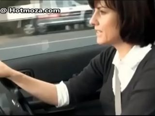 MILF playing in car