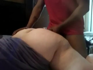 Ample milky culo GETTING pulverized BY ample black cock