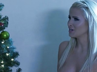 Revengeful busty wife fucks a stranger during xmas