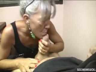 old secretary blowjob for job