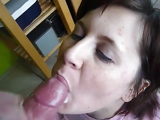 cum in my amateur wifes mouth