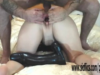 Weighty dildo fucked coupled with fisted layman become man