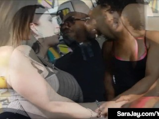 Phat ass white girl cougar Sara Jay 7 black Misty Stone tear up A Black stiffy!