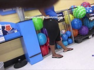 Broad ass dark-hued Legging spandex hood step-sister