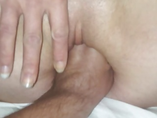 Fisting wife's tight pussy