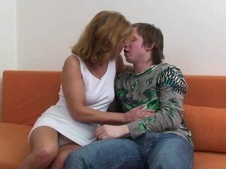 Koko - czech blonde mature and young boy
