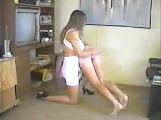 hubby spanked by gym wife