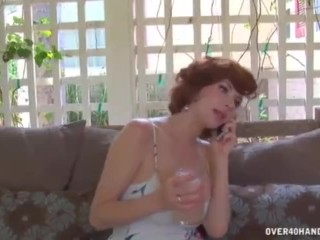 Hot Milf sinker Reads tiara admission in the air their way stance