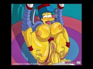Blue spinning Simpson
