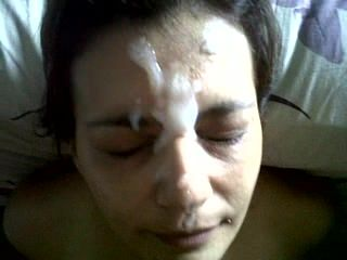 Milf gets a facial cum fart. Sunni from DATES25.COM
